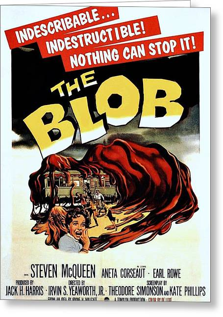 The Blob  Greeting Card by Movie Poster Prints