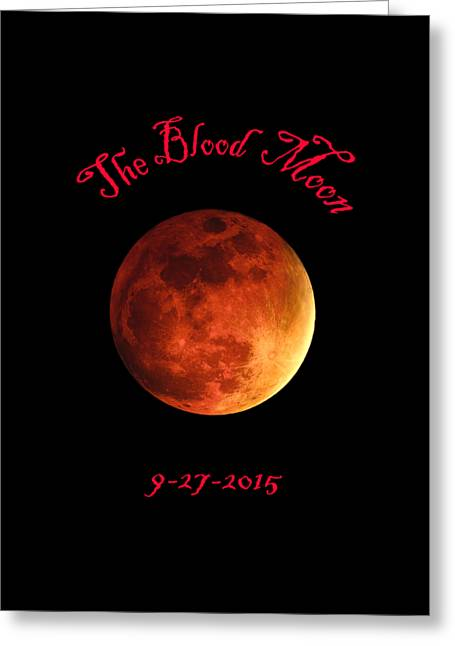The Blood Moon Greeting Card by Jasmin Hrnjic