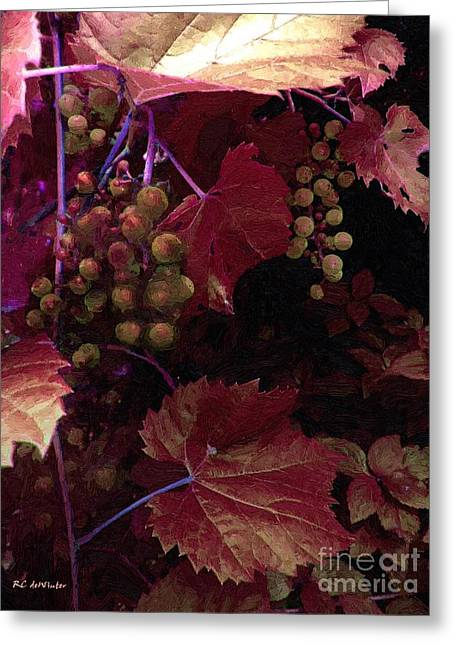 The Blood Of The Grape Greeting Card