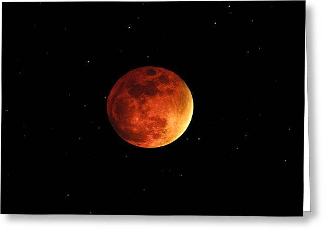 The Bloody Moon Greeting Card by Jasmin Hrnjic