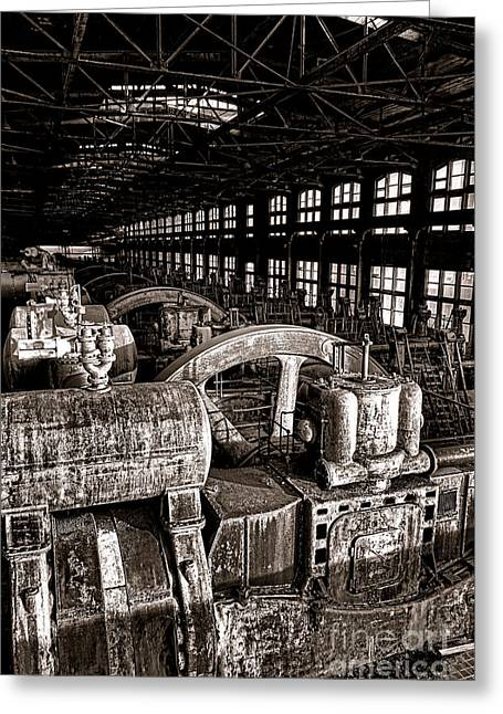 The Blower House At Bethlehem Steel  Greeting Card by Olivier Le Queinec