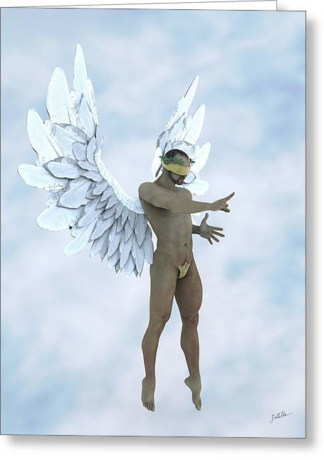 The Blue Angel Greeting Card by Joaquin Abella