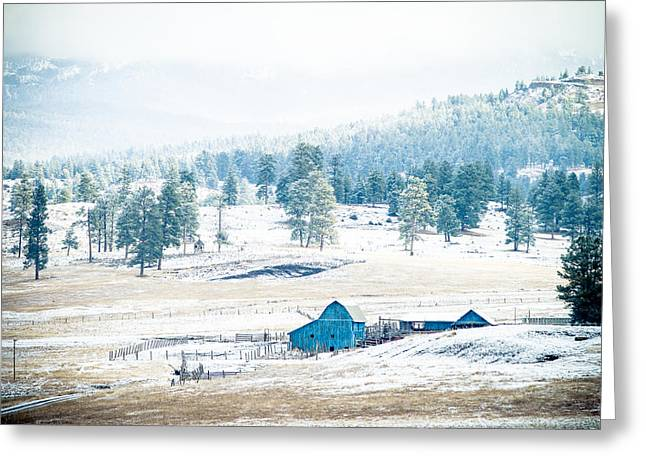 The Blue Barn Greeting Card