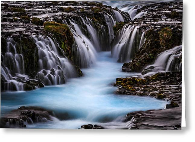 The Blue Beauty Greeting Card by Sus Bogaerts