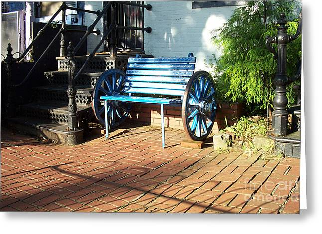 The Blue Bench Greeting Card