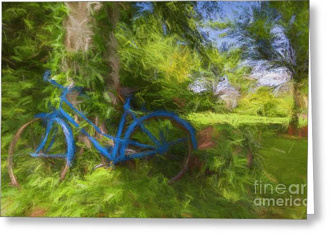 The Blue Bicycle Greeting Card