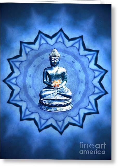 The Blue Buddha Meditation Greeting Card