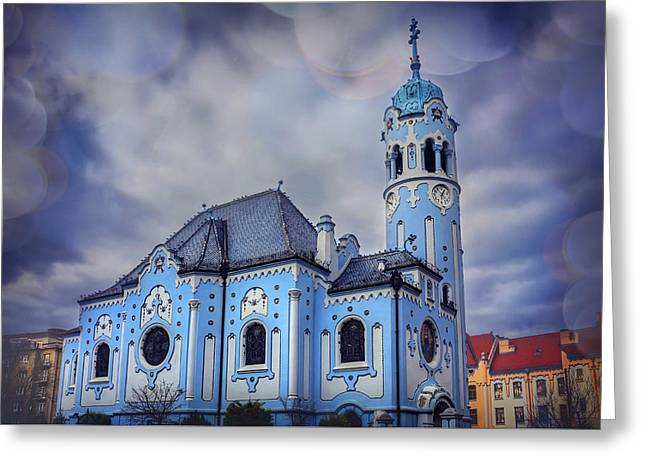 The Blue Church In Bratislava Slovakia Greeting Card