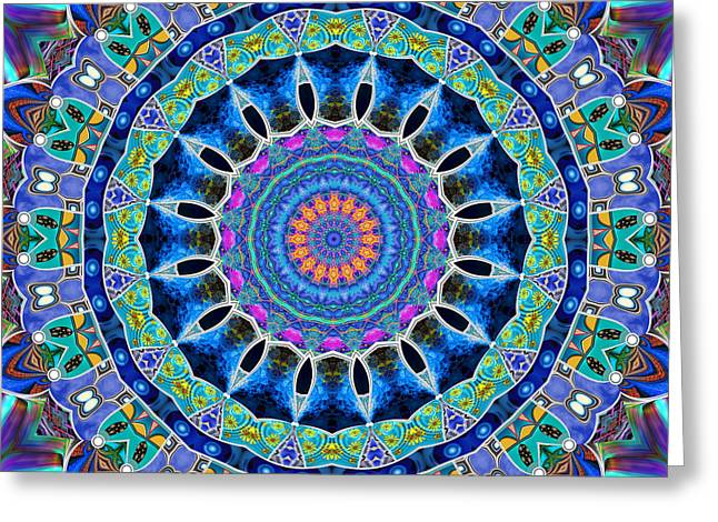 Greeting Card featuring the digital art The Blue Collective 03c by Wendy J St Christopher