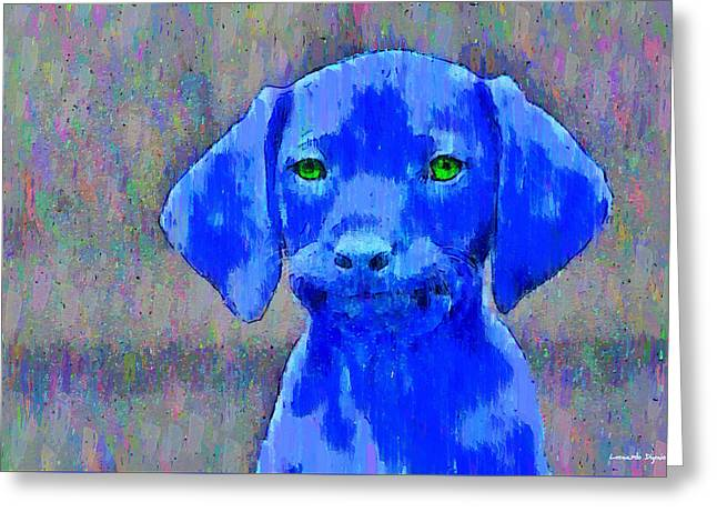 The Blue Dog - Pa Greeting Card