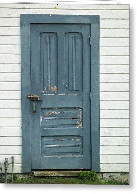 The Blue Door Greeting Card by Mg Blackstock