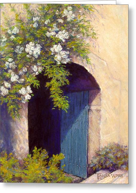 The Blue Door Greeting Card by Tanja Ware