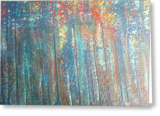 The Blue Forest Greeting Card by Pradeep Gupta