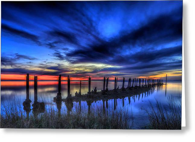 The Blue Hour Comes To St. Marks #1 Greeting Card