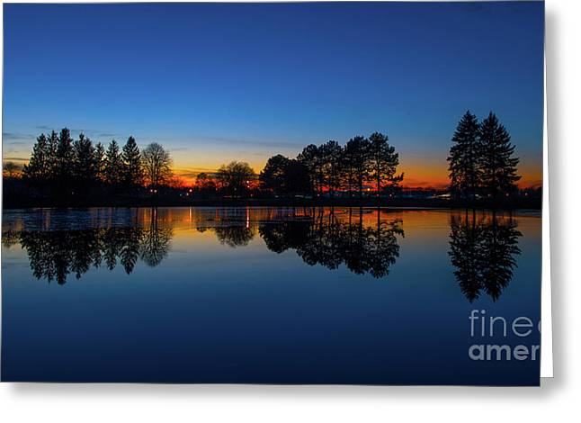 The Blue Hour.. Greeting Card by Nina Stavlund