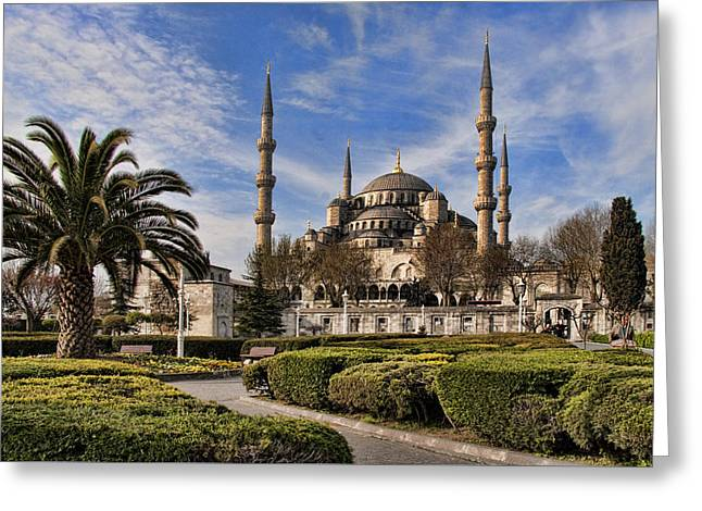 The Blue Mosque In Istanbul Turkey Greeting Card