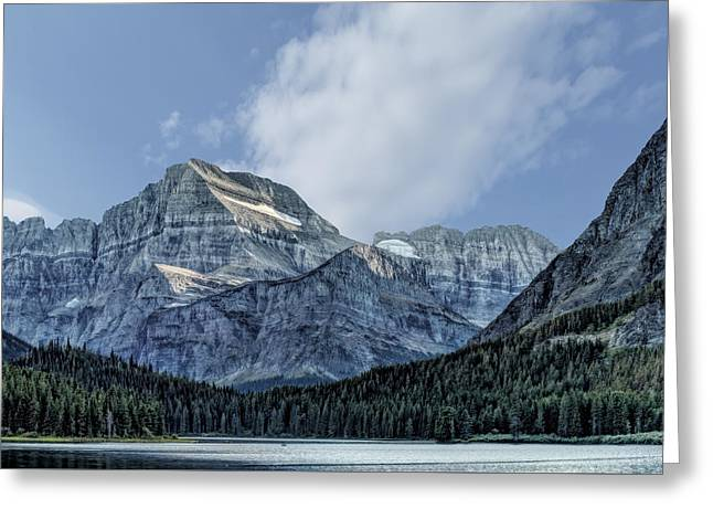 The Blue Mountains Of Glacier National Park Greeting Card