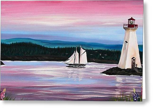 The Blue Nose II At Baddeck Nova Scotia Greeting Card by Patricia L Davidson