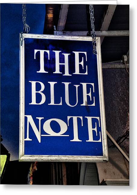 The Blue Note - Bourbon Street Greeting Card by Bill Cannon