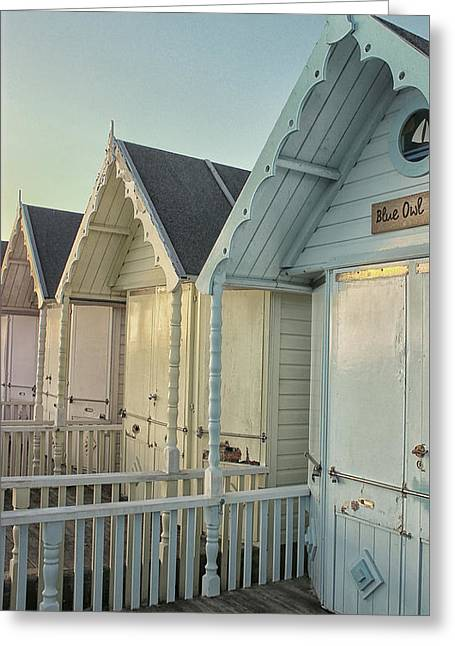 The Blue Owl Hut Greeting Card by Martin Newman