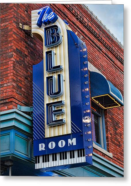 The Blue Room Sign Greeting Card