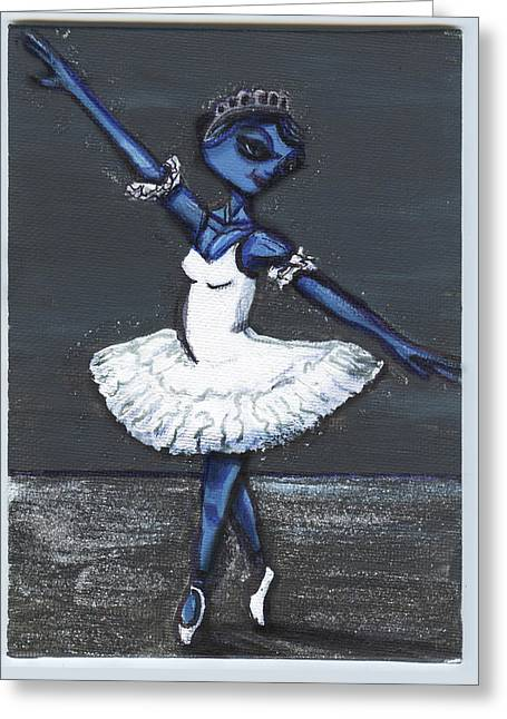 The Blue Swan Greeting Card