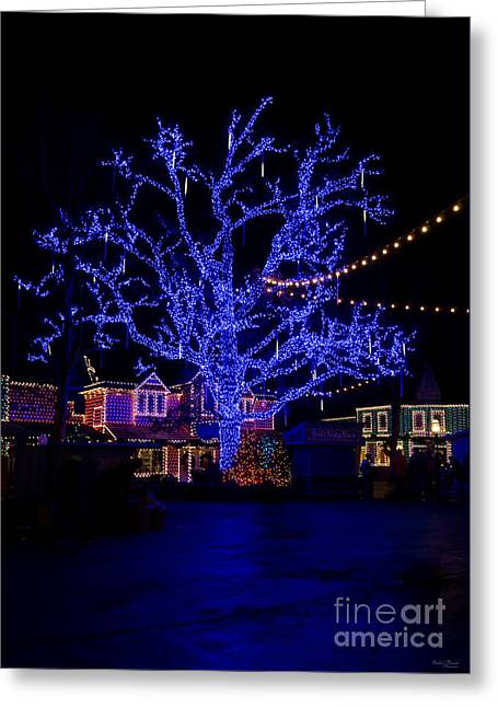 The Blue Tree Greeting Card by Jennifer White