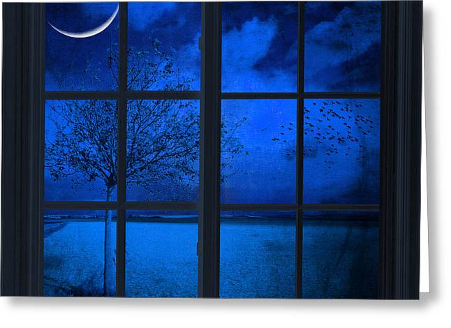 The Blue Window Greeting Card