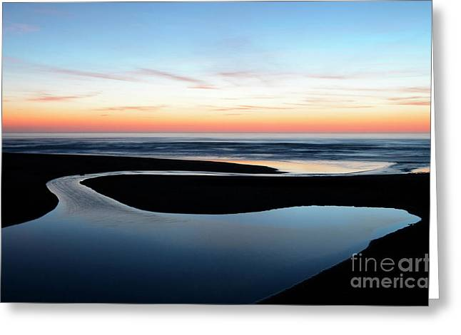 The Blue Zone California Greeting Card by Bob Christopher