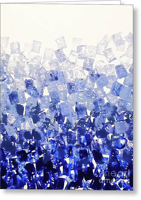 The Blues Blocks Greeting Card by Jilian Cramb - AMothersFineArt