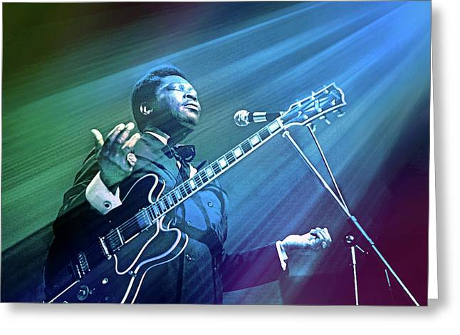 The Blues Come Over Me Greeting Card