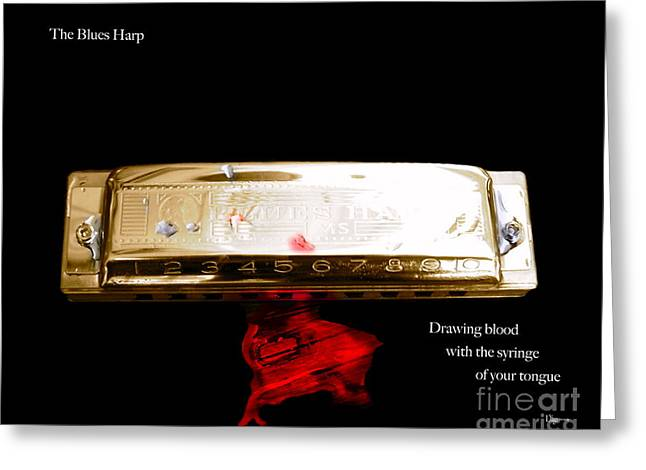 The Blues Harp Greeting Card by Steven  Digman