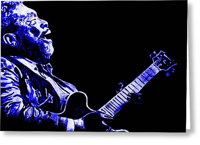 Mike Obrien Greeting Cards - The Blues Greeting Card by Mike OBrien