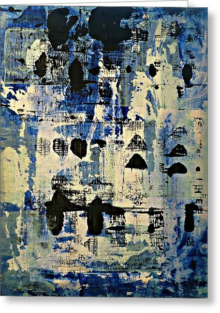 The Blues Abstract Greeting Card