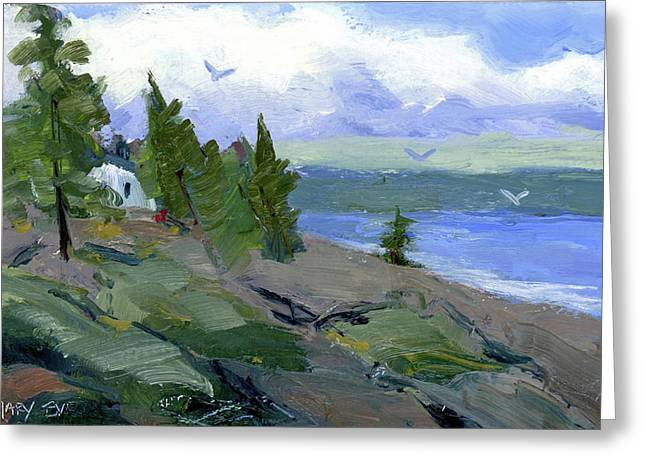 The Bluff Greeting Card by Mary Byrom