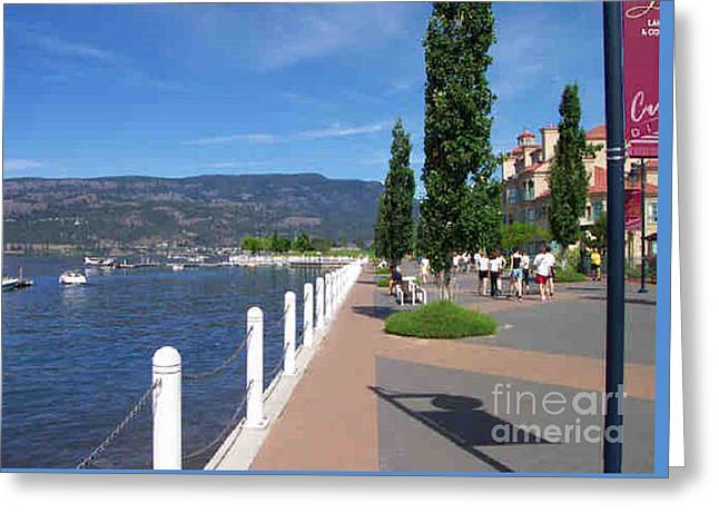 The Boardwalk In Kelowna   Greeting Card by Rod Jellison