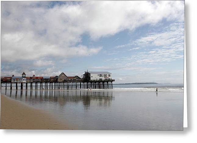 The Boardwalk Greeting Card by Roxanne Marshal