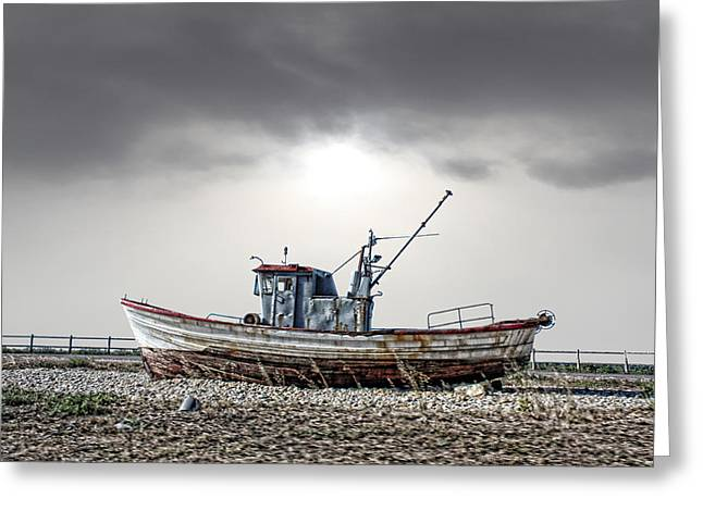 Greeting Card featuring the photograph The Boat by Angel Jesus De la Fuente