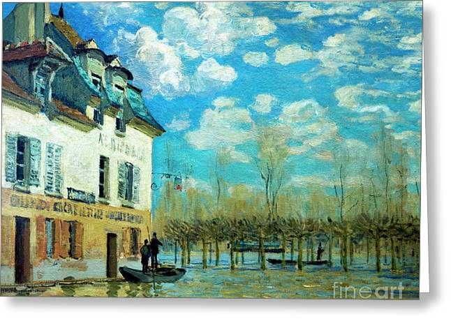 The Boat During The Flood, La Barque Pendant L'inondation, Port- Greeting Card