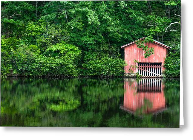 The Boat House At Desoto Falls Greeting Card by Phillip Burrow