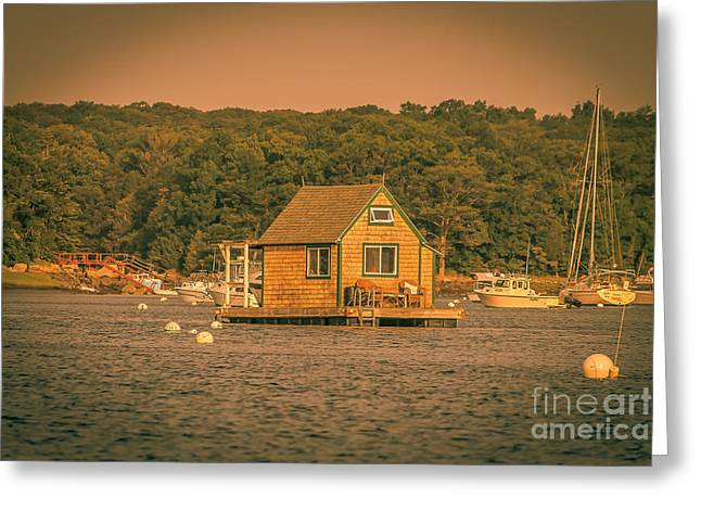 The Boat House Greeting Card by Claudia M Photography