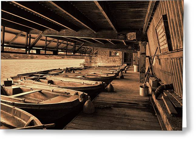 Greeting Card featuring the photograph The Boat House  by Scott Carruthers