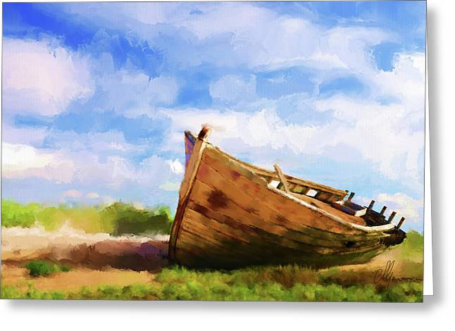 The Boat Greeting Card by Michael Greenaway