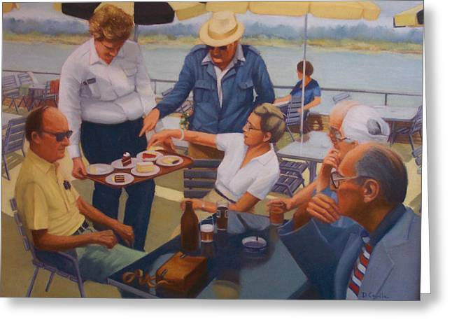 The Boat Party Greeting Card by Diane Caudle