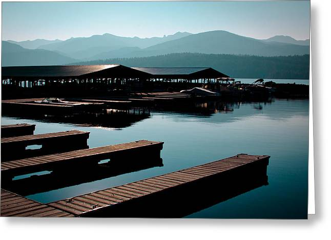 The Boathouse At Elkins Resort Greeting Card by David Patterson