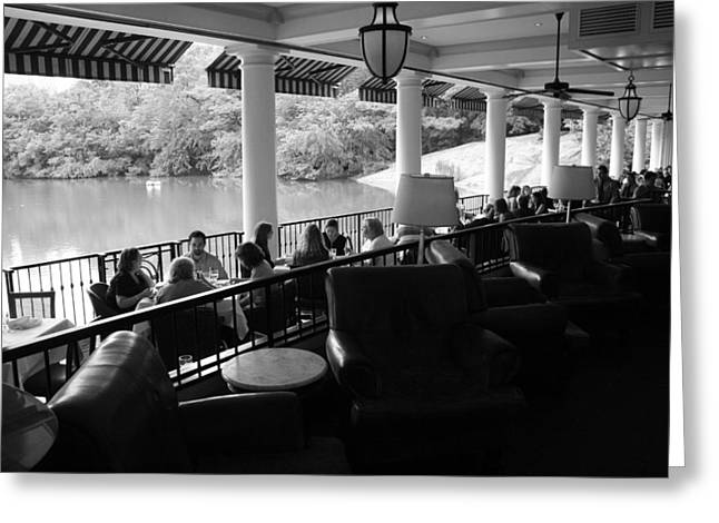 The Boathouse Central Park Greeting Card by Christopher Kirby