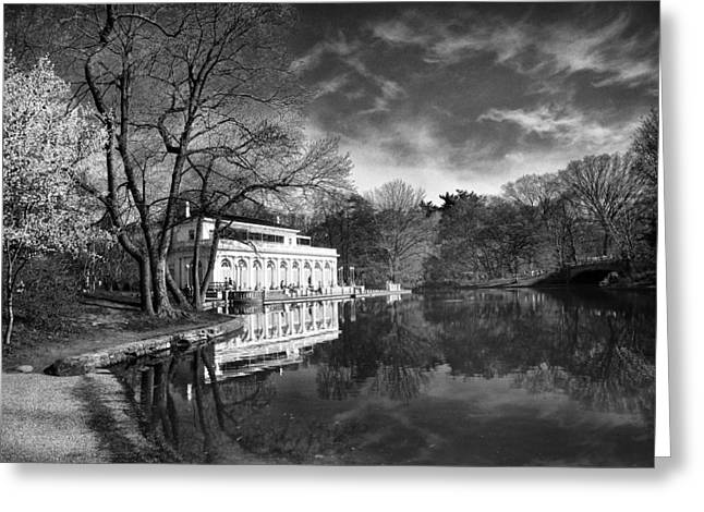The Boathouse Of Prospect Park II Greeting Card