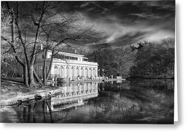 The Boathouse Of Prospect Park Greeting Card by Jessica Jenney