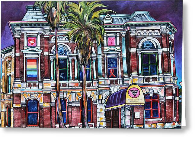 Greeting Card featuring the painting The Bonham Exchange by Patti Schermerhorn