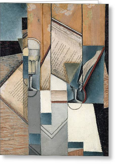 The Book Greeting Card by Juan Gris